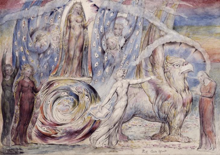 William Blake image for Dante's Divine Comedy.